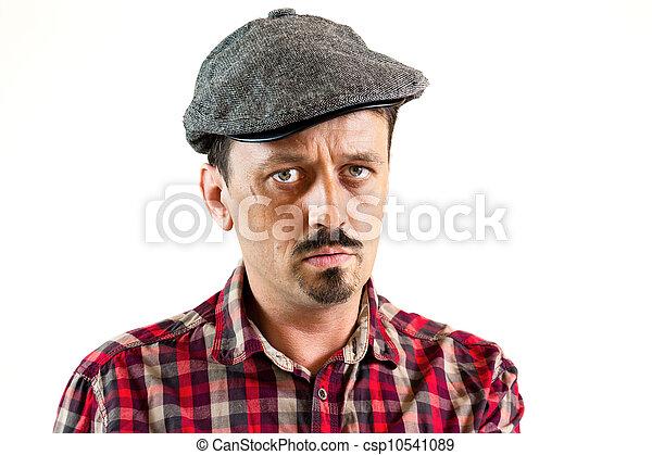 sérieux, casquette, jeune homme - csp10541089