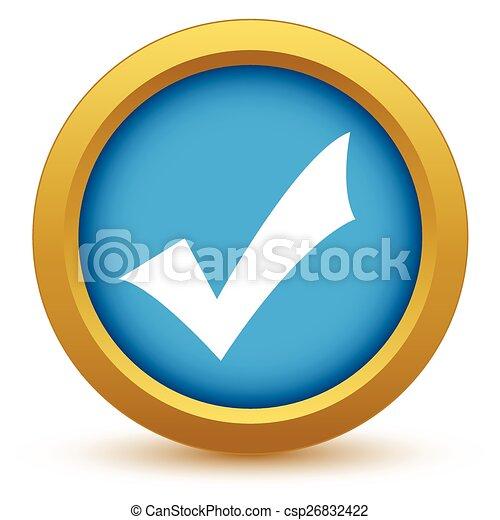Oro sí icono - csp26832422