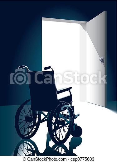 La silla de ruedas - csp0775603
