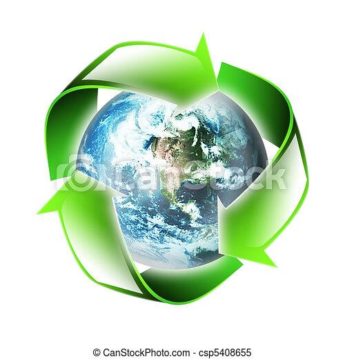 El símbolo del medio ambiente - csp5408655