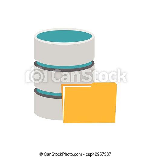 símbolo, base de datos, storage. - csp42957387