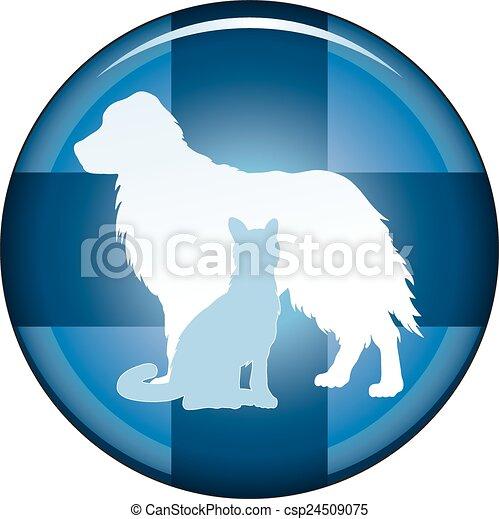 Botón de símbolo médico veterinario - csp24509075