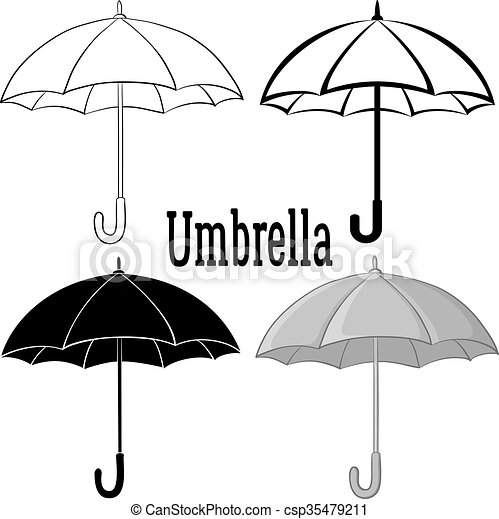 El símbolo de la paraguas - csp35479211