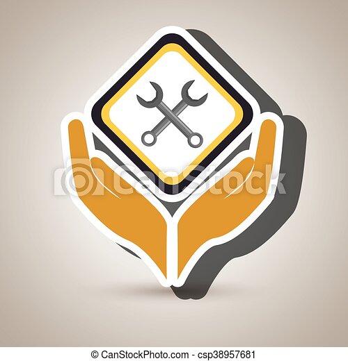 El símbolo de la construcción de herramientas - csp38957681