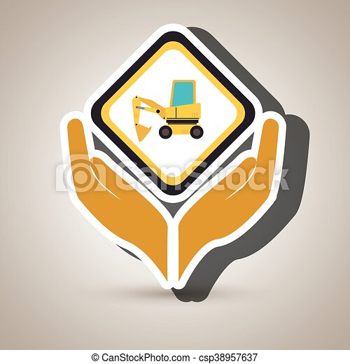 El símbolo de la construcción de herramientas - csp38957637