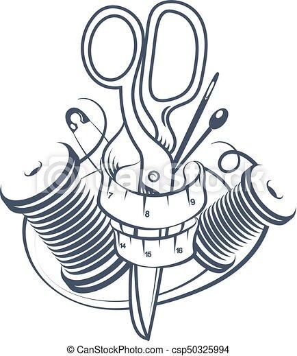 símbolo, corte, cosendo - csp50325994