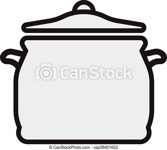 Simbolo Cozinhar Elemento Desenho Panela Icone