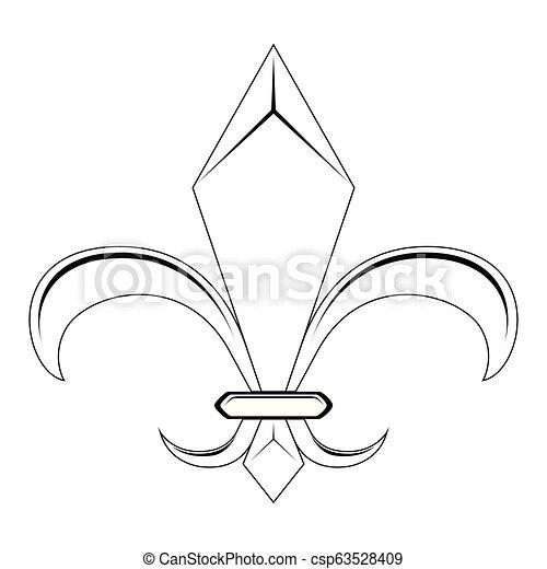 El símbolo Fleur de Lys - csp63528409