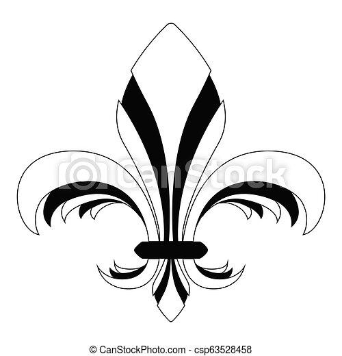 El símbolo Fleur de Lys - csp63528458