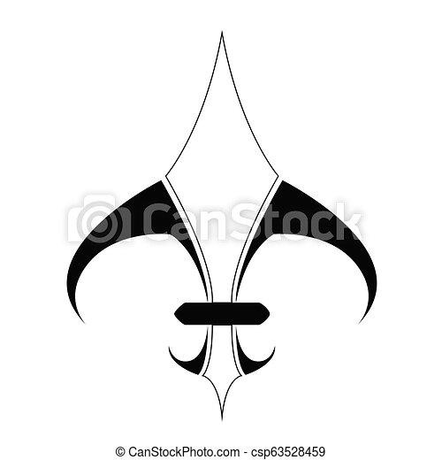 El símbolo Fleur de Lys - csp63528459
