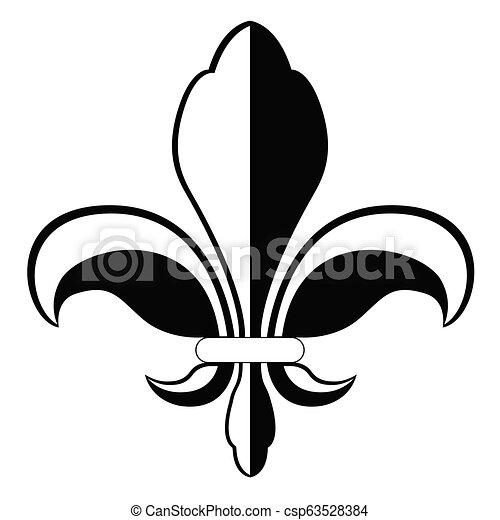 El símbolo Fleur de Lys - csp63528384