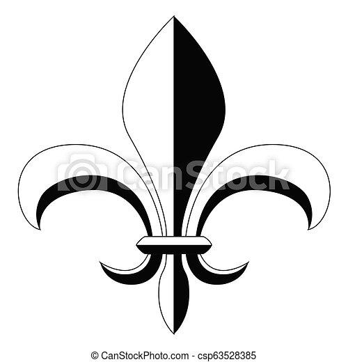 El símbolo Fleur de Lys - csp63528385