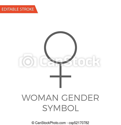 icono vector de género femenino - csp52170782