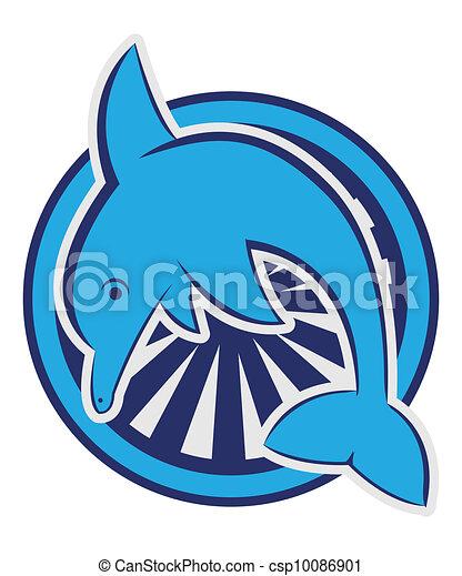 Simbolo del delfín - csp10086901