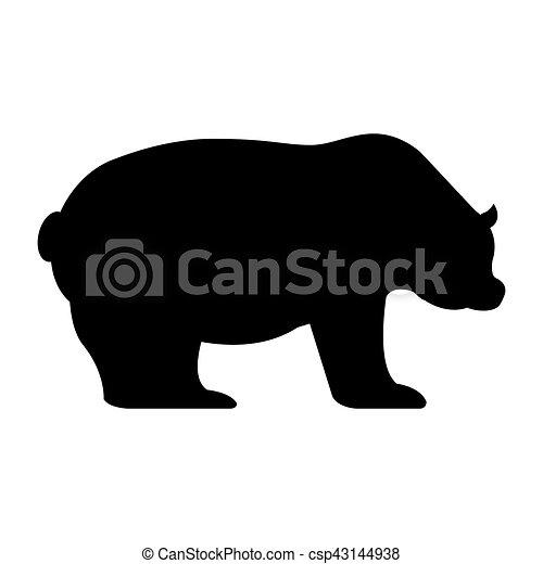 El símbolo de la economía del oso es un icono aislado - csp43144938