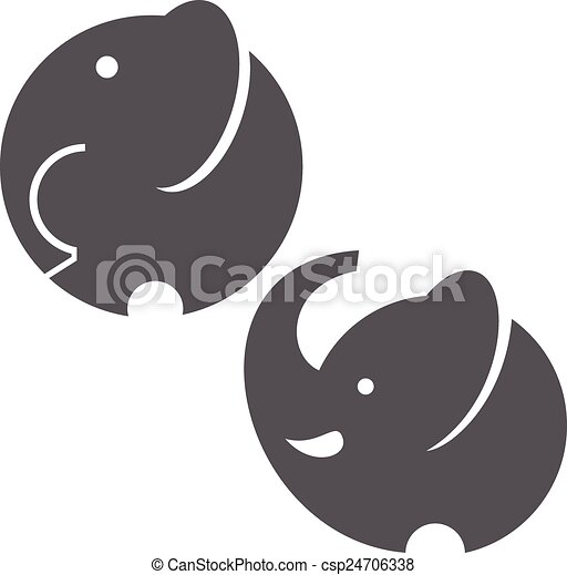 Símbolo de elefante - csp24706338