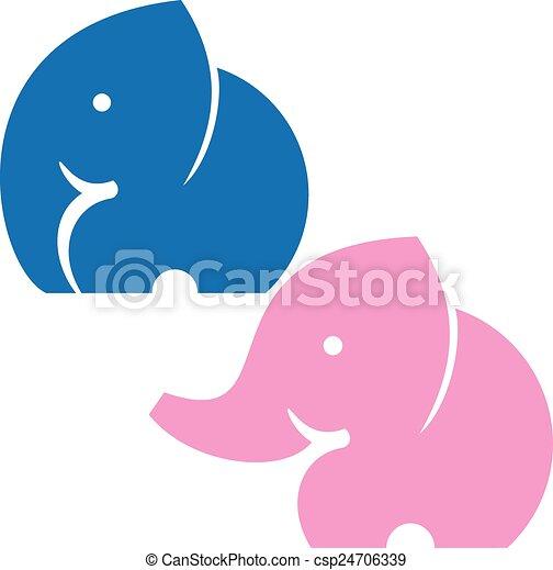 Símbolo de elefante - csp24706339