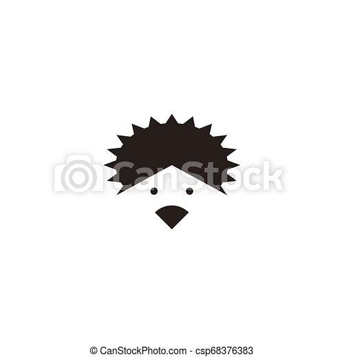 El elemento de diseño de vectores de logo de Hedgehog - csp68376383