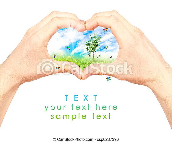 El símbolo del medio ambiente. - csp6287396