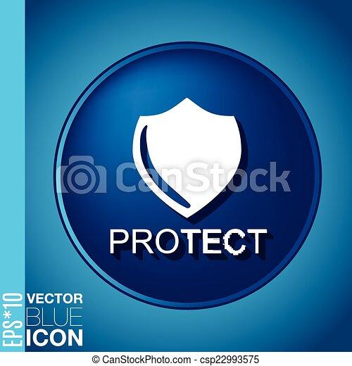 símbolo, escudo, escudo, protection. - csp22993575