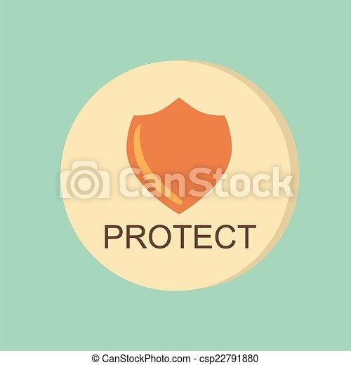 símbolo, escudo, escudo, protection. - csp22791880