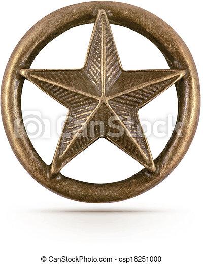 El símbolo de la estrella de bronce - csp18251000