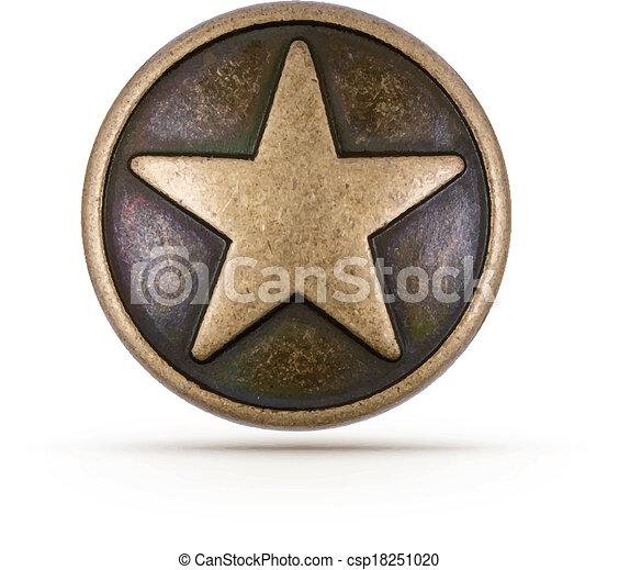 El símbolo de la estrella de bronce - csp18251020