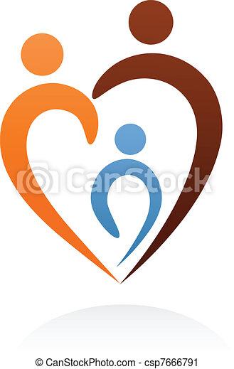 símbolo, família, ícone - csp7666791
