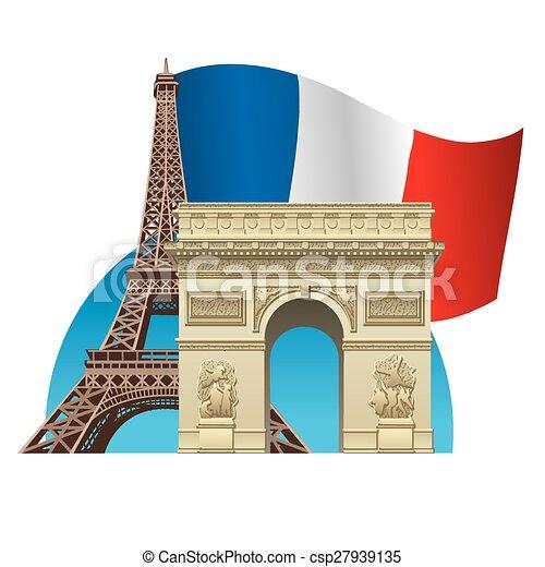 El símbolo de Francia - csp27939135