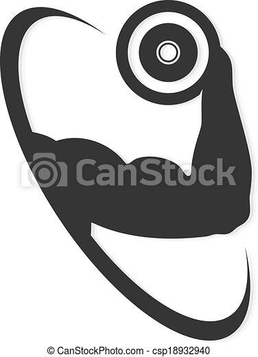 Símbolo para el gimnasio - csp18932940