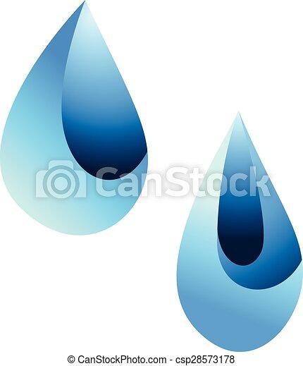 Ilustración de vectores de gota de agua - csp28573178