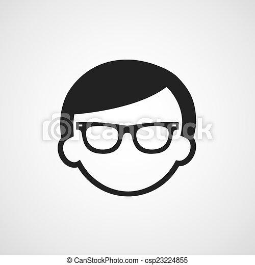 El símbolo de las gafas de hombre - csp23224855