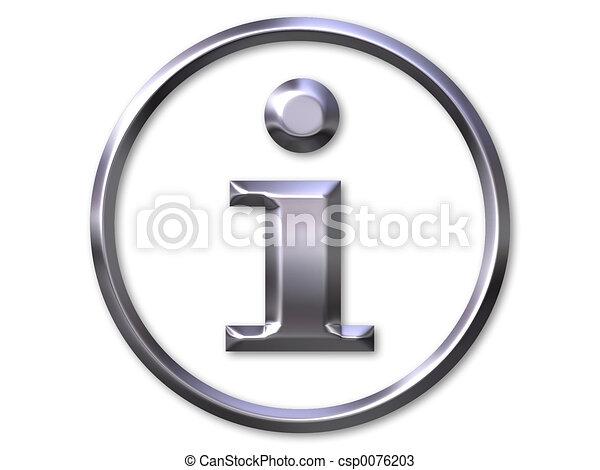 símbolo informação - csp0076203