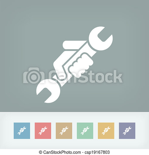 icono del símbolo de la ruina - csp19167803