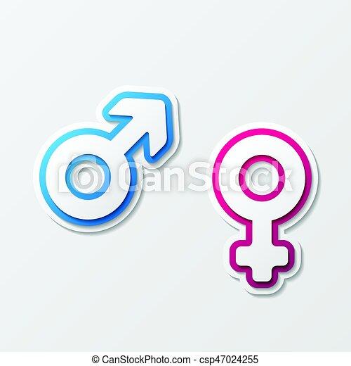 Símbolo Mujer Hombre Diferente Género Aislado Símbolos