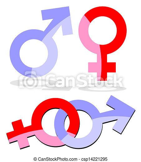 Símbolo Mujer Hombre