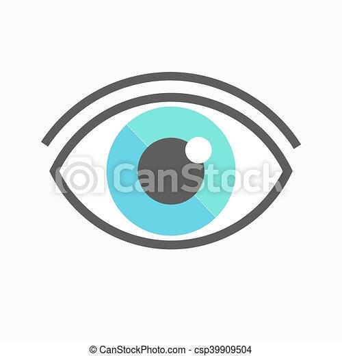 símbolo, olho, ícone - csp39909504