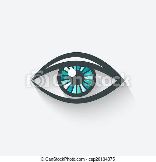 símbolo, olho - csp20134375