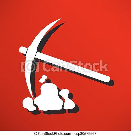 Simbolo de pico y pala - csp30578567