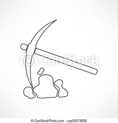 Simbolo de pico y pala - csp30579559