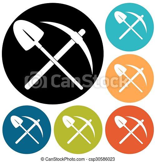 Simbolo de pico y pala - csp30586023