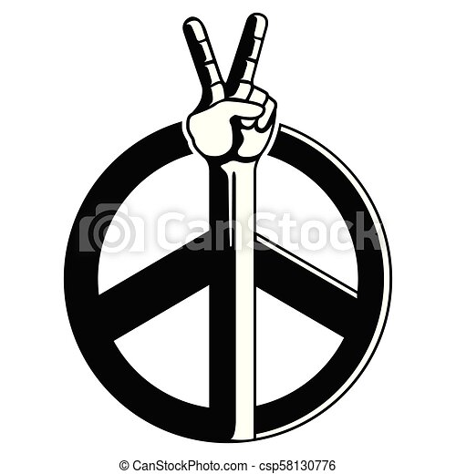 Simbolo Paz Icone Simbolo Paz Isolado Ilustracao Vetorial