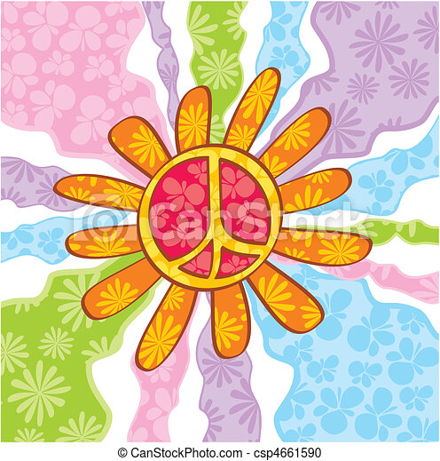símbolo, paz, hippie - csp4661590