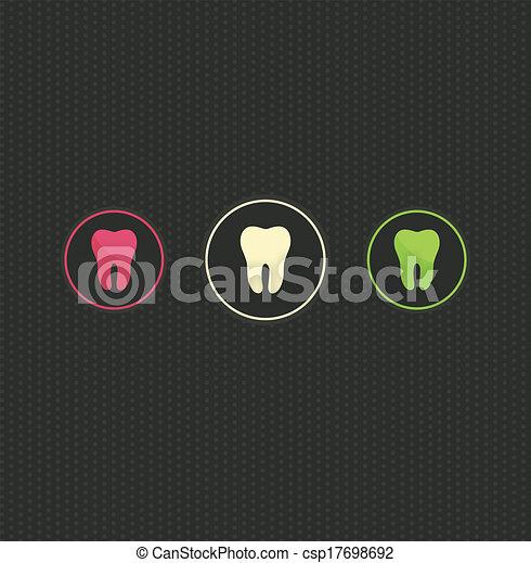 El origen del símbolo de los dientes - csp17698692