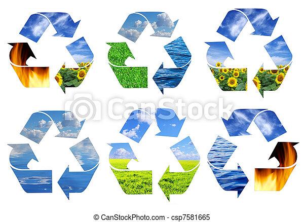 Simbolo de reciclaje - csp7581665