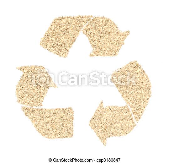 Simbolo de reciclaje - csp3180847