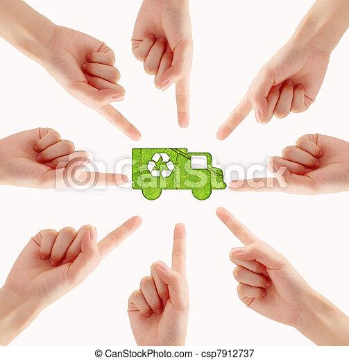 Simbolo de reciclaje - csp7912737