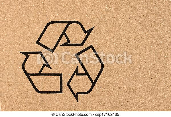 El símbolo de reciclaje - csp17162485