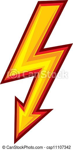 El símbolo del rayo - csp11107342