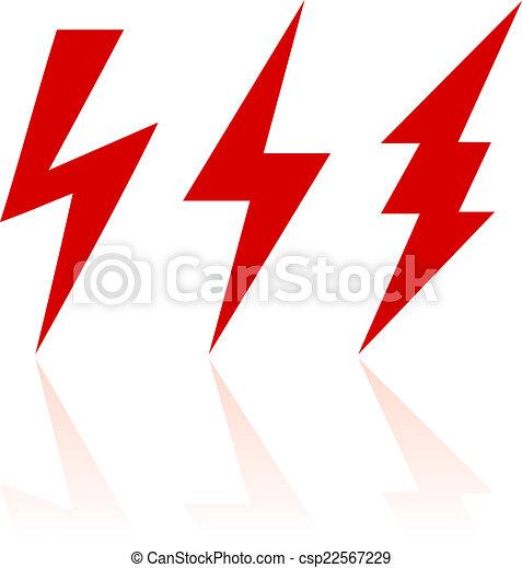 El símbolo del rayo - csp22567229